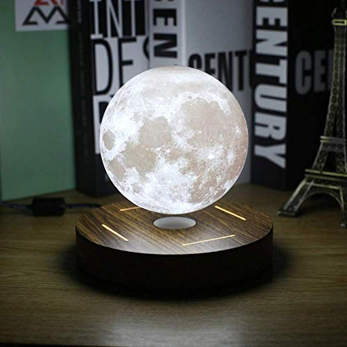AristiPet Magnetic Levitating 3D Moon Lamp 360 rotated Wooden Base 10cm Night Lamp Floating Romantic Light Home Decoration