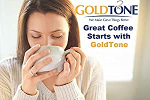 GOLDTONE Reusable 8-12 Cup Basket Coffee Filter fits Mr. Coffee Makers and Brewers, BPA Free (Color: Gold/Black, Tamaño: 8/12 Cup)