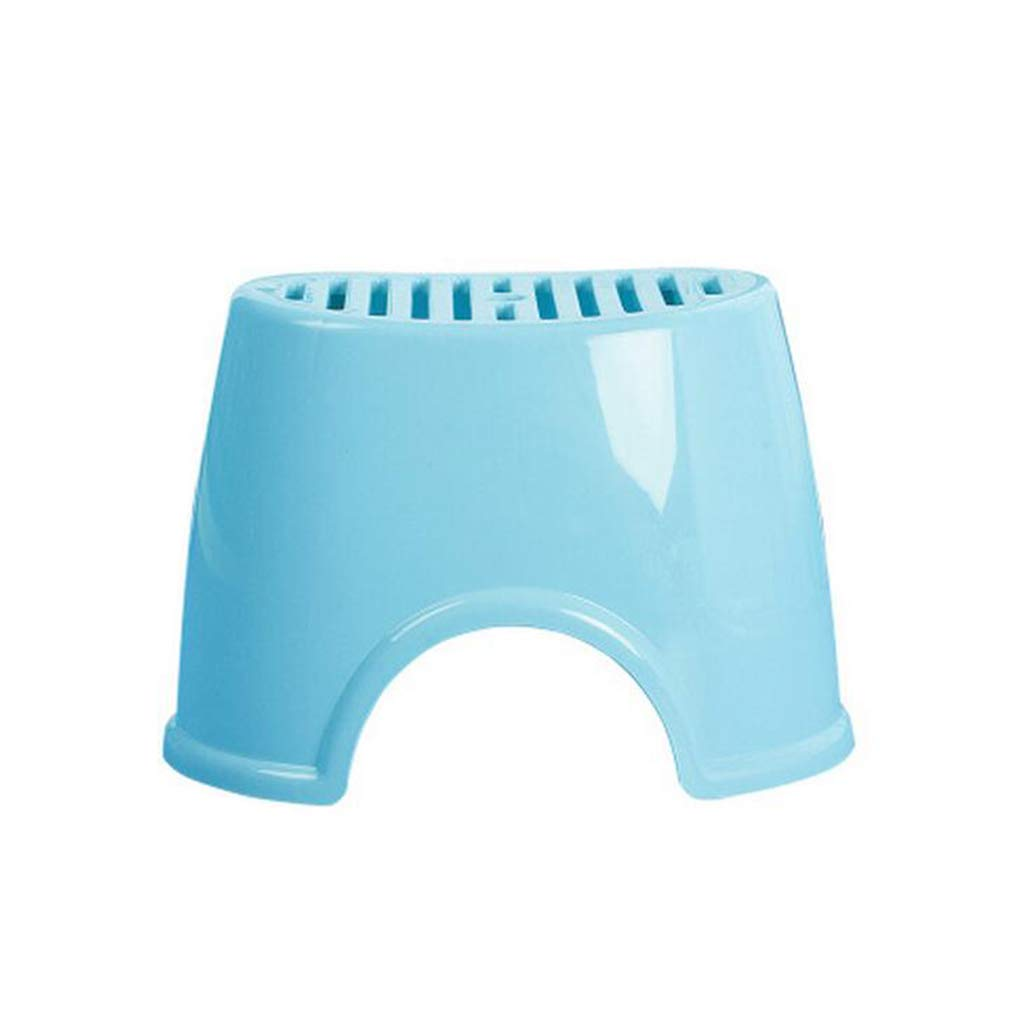 KTYXDE Thick Plastic Stool Children's Table and Stool Bathroom Anti-Slip Stool Home Small Bench Adult Shoes Bench Bathroom Chairs
