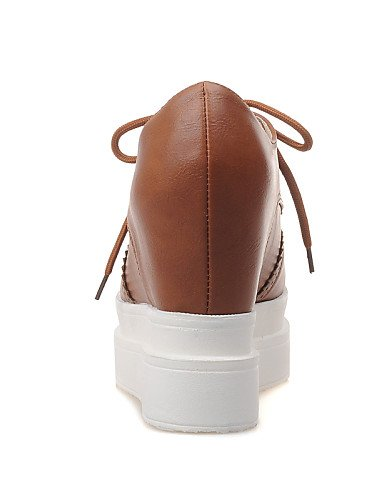 Vestito tacco Scarpe tacco donna marrone a con zeppa Uk7 Cn41 Hug Rosso da Similpelle punta nero bianco Eu40 us9 oro Njx bianco Z7Aq5Iw5