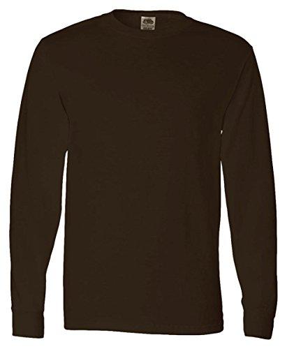 FoTL 4930 Mens Heavy Cotton Long-Sleeve Tee Small Ash 2 Pack