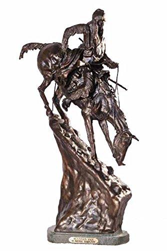 - American Handmade 100% Bronze Sculpture Statue Mountain Man By Frederic Remington Medium Size
