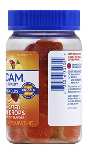Zicam Cold Remedy Medicated Fruit Drops Homeopathic