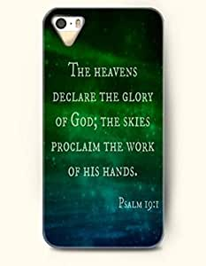 iPhone 4 4S Case OOFIT Phone Hard Case **NEW** Case with Design The Heavens Declare The Glory Of God The Skies Proclaim The Work Of His Hands Psalm 19:1- Bible Verses - Case for Apple iPhone 4/4s