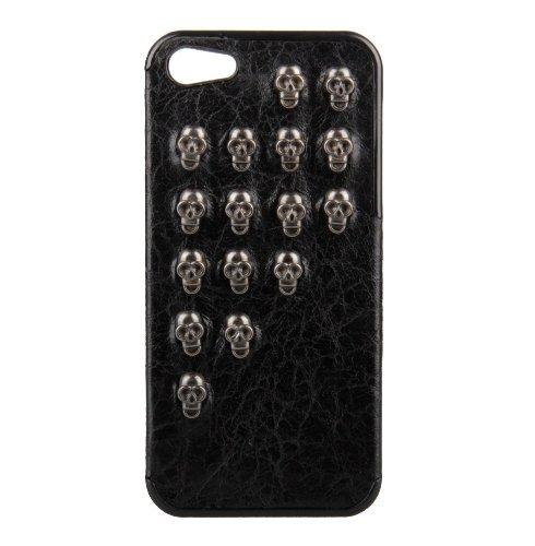 Monkey Cases® iPhone 4 / 4s - Nieten Case - schwarz / silber - Original - Totenkopf - Skull - NEU - Steine #12
