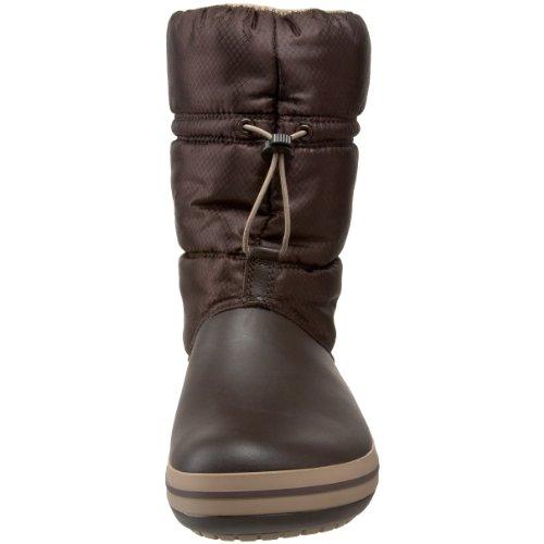 Crocs Crocband - Botas de invierno de media caña para mujer Marrón