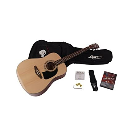 Washburn lg1pak Lyon by Washburn Pack de guitarra acústica dreadnought