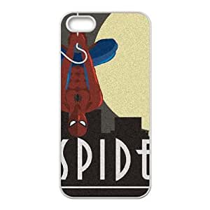 iPhone 5 5s Cell Phone Case White Spider Man Skyline Noir BNY_6800337