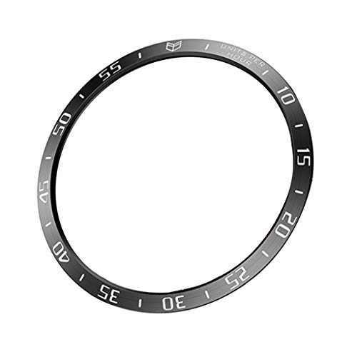 Sodoop Bezel Ring Compatible for Galaxy Watch 46mm, Sport Adhesive Cover Anti Scratch Stainless Steel Protection Case for Samsung Gear Smart Watches (Black)