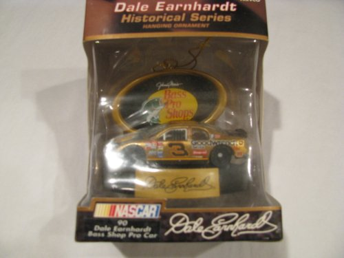 (Dale Earnhardt Sr #3 Special Paint Scheme Bass Pro Goodwrench Service Collectable Christmas Holiday Hanging Car Ornament 1/64 Scale Trevco Brand)