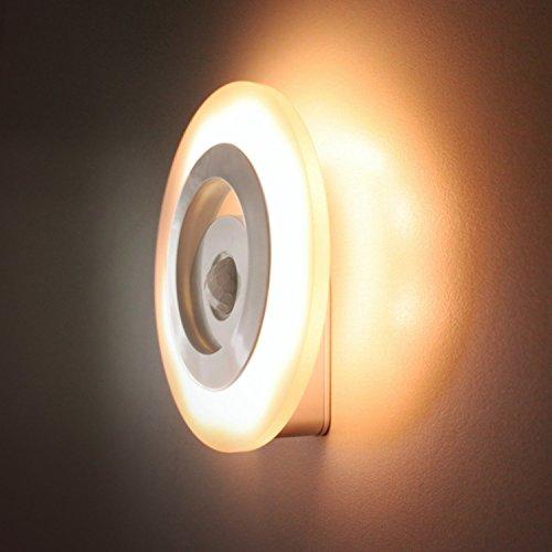 Sino Banyan Wall Sensor Light,8 LED,Warm White
