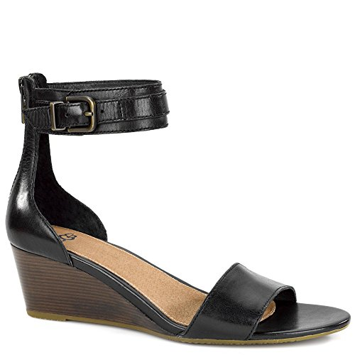 Ugg Women's Char Wedge Sandal, Black, 7.5 US/7.5 B US