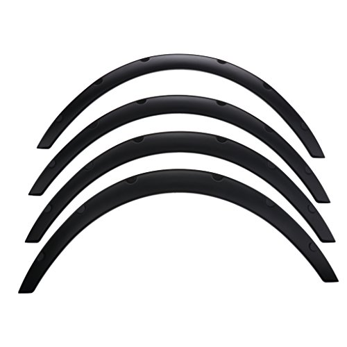 Dovewill Set of 4 New Wheel Fender Flares Eyebrow Wide Moulding Trim ABS Conversion Kit by Dovewill (Image #2)