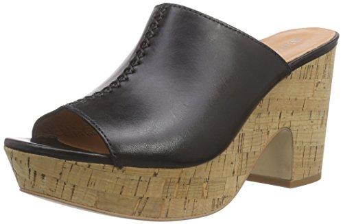 Sandal Black Wedge Plateau Damen mit O'Polo 990 Schwarz Sandalen Marc Blockabsatz zEwfPBq5x