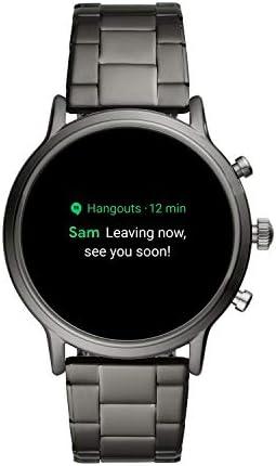 Fossil Gen 5 Carlyle Reloj inteligente con pantalla táctil de acero inoxidable con altavoz, frecuencia cardíaca, GPS, NFC y notificaciones de smartphone 11