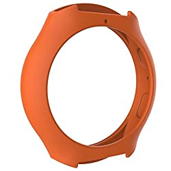 Lisin Smart Watch Accessories For Samsung Galaxy Gear S2 SM-R720 SM-R730, Silicon Slim Smart Watch Case Cover (Orange)