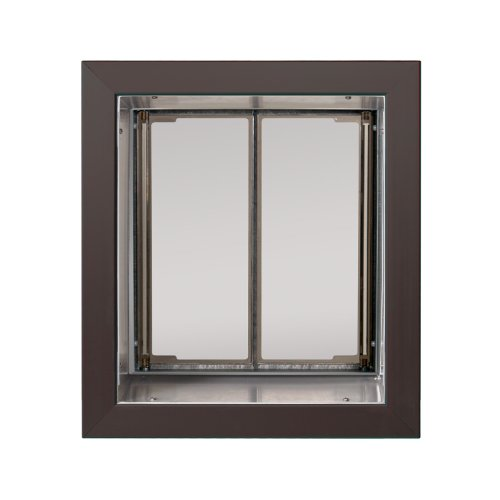 PlexiDor Performance Pet Doors Medium Bronze Wall Mount (Cat In Wall Door)