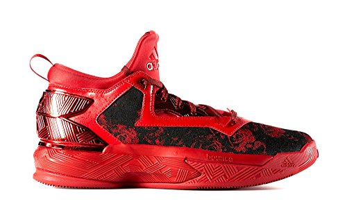 adidas Men's D Lillard 2 Scarlet/Black/Scarlet Athletic Shoe by adidas