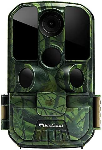 New Version Usogood Trail Game Camera 20MP 1080P No Glow Night Vision Hunting Camera Motion Activated IP66 Waterproof 2.4 LCD for Outdoor Wildlife, Garden, Animal Scouting and Security Surveillance
