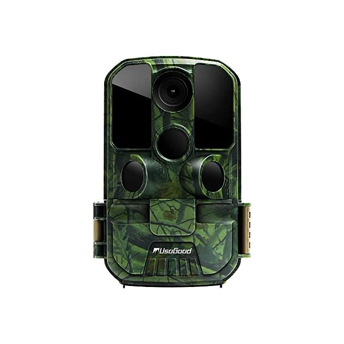 [New Version] Usogood Trail Game Camera 20MP 1080P No Glow Night Vision Hunting Camera Motion Activated IP66 Waterproof 2.4″ LCD for Outdoor Wildlife, Garden, Animal Scouting and Security Surveillance