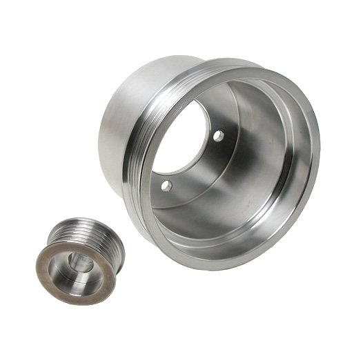 (BBK 1619 Underdrive Pulley Kit For Ford Mustang 3.8L-V6 - 2 Pc CNC Machined Lightweight Aluminum - Crank And Alternator)