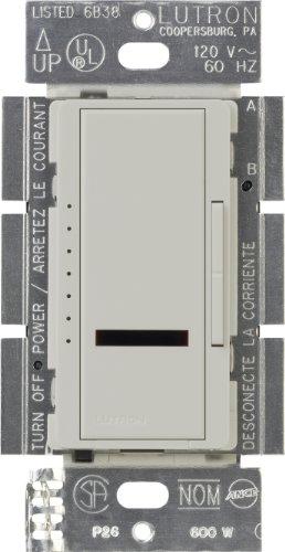 Lutron MIR-600-PD Maestro Ir 600-Watt Single-Pole Digital Dimmer, Palladium - Single Touch Dimmer