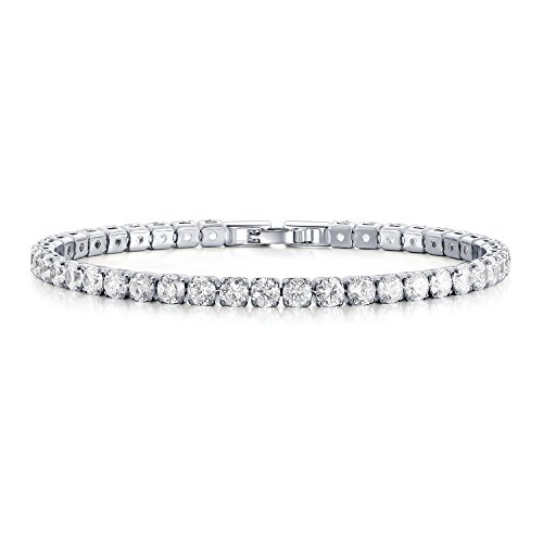 UMODE Jewelry 0.25 Carat Round Cut Clear Cubic Zirconia CZ Tennis Bracelet for Woman 7.5