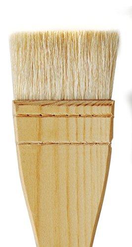 da Vinci Varnish & Priming Series 11245 Professional Hake Brush, White Goat Hair with Plainwood Handle, Size 6 (11245-6) by da Vinci Brushes (Image #2)