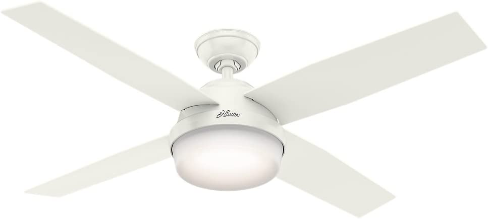 Hunter Dempsey Indoor / Outdoor Ceiling Fan with LED Light and Remote Control