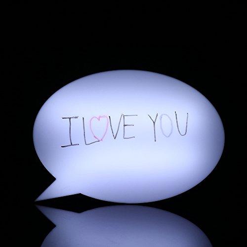 trietree tablero de mensajes, escritura a mano se puede borrar, luz LED de mensaje caja de luz carta Junta Expression Prop...