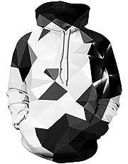 Spreadhoodie Unisex 3D Hoodie Herren Damen Kapuzenpullover Langarm Drawstring Pullover Sweatshirt mit Tasche S-XXL