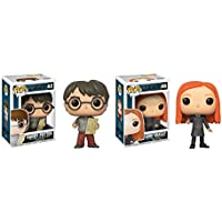 POP Movies Harry Potter: Harry Potter with Marauders Map and Ginny Weasley Toy Action Figures - 2 Piece BUNDLEGinny