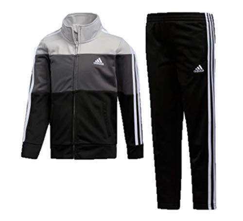 adidas Boys' Tricot Jacket & Pant Clothing Set (7, Black 001) ()