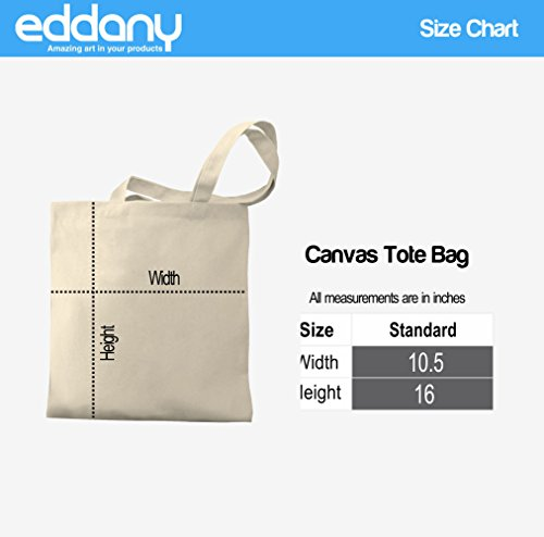 Bag Tote Eddany Canvas Seven Guitar String Eddany Seven words three qBR8zz
