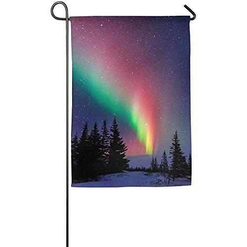 Dozili Garden Flag Decor Aurora Polaris Light Lawn Home Decoration Weather Resistant & Double Sided Flag 28