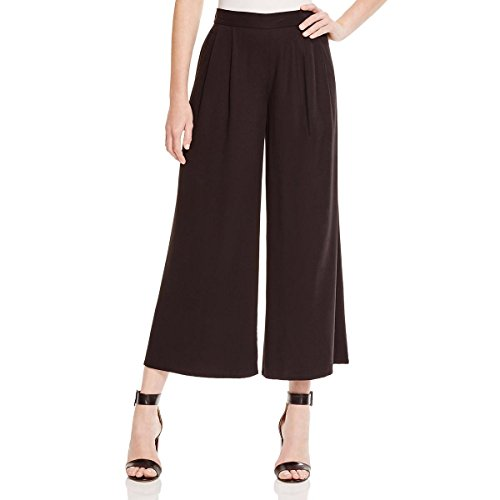Fit Double Pleat Pant (Eileen Fisher Womens Woven Double Pleat Wide Leg Pants Black L)