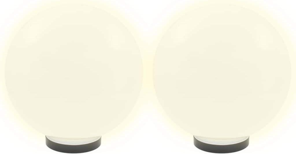 Festnight Bolas de Lluminaci/ón L/ámpara de Decoraci/ón Blanco L/ámpara de Jard/ín Exterior Terraza Jard/ín LED 30 cm PMMA
