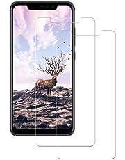 POOPHUNS Cristal Templado Xiaomi Redmi Note 6 Pro, 2-Unidades Protector de Pantalla Cristal Vidrio Templado Premium para Xiaomi Redmi Note 6 Pro 9H Vidrio Real No se despega uellas Dactilares Libre