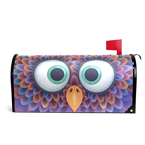 Cute Owl On Meadow Magnetic Mailbox Cover Oversized-25.5