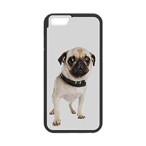 Pug 6 4.7 pulgadas Caso lindo del teléfono celular del iPhone del perro funda Negro caja del teléfono celular Funda Cubierta EEECBCAAL75661