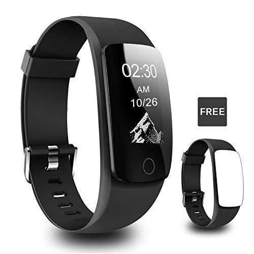 er, H7 Touch Screen Activity Tracker Heart Rate Monitor, Waterproof Pedometer Smart Fitness Watch Sleep Tracker Calorie Counter Kids Women Men (Black) ()
