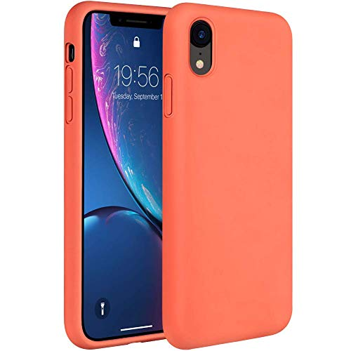 - Miracase Liquid Silicon Case Compatible with iPhone 6.1, Gel Rubber Full Body Protection Shockproof Cover Case Drop Protection for Apple iPhone 6.1 (Coral)