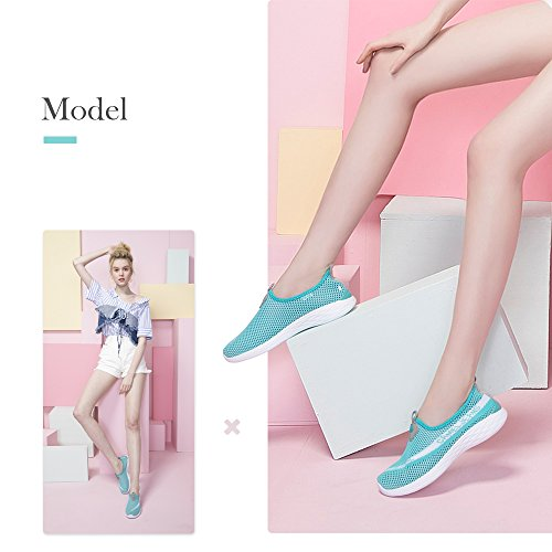 Slip Blue Shoes Shoes Casual Mesh Breathable Women's Quick Drying on Camel Lightweight Sneakers Walking qZxwO11