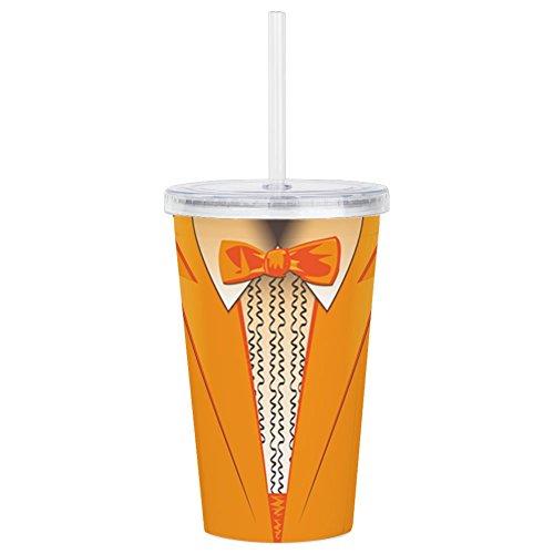 CafePress - Orange Tuxedo - Insulated Straw Cup, 20oz Acrylic Double-Wall -