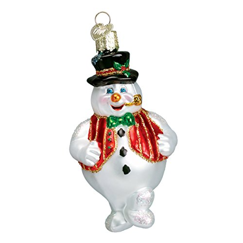 Old World Christmas Mr. Frosty Glass Blown Ornament