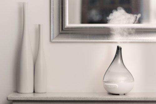 Madebyzen 402001392 Ultraschall Ultraschall Ultraschall Aroma Diffuser Bloom, rauchgrau f867d4