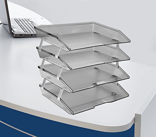 Acrimet Facility Letter Tray 4 Tiers (Smoke Color) by Acrimet (Image #1)