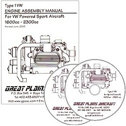 VW Engine Assembly Manual/dvd for Type 1 VW powered sport aircraft 1600cc - 2300cc