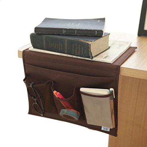 4 Pockets Tidy Bedside Caddy Organizer Hanging Storage