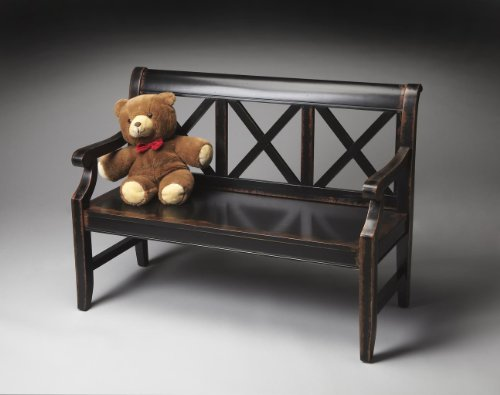 - Butler Specialty Masterpiece Midnight Rose Indoor Entryway Bench